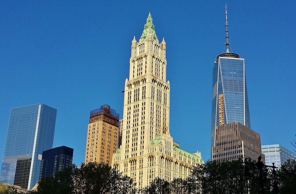Klassisk skyskraber Woolworth Building Manhattan